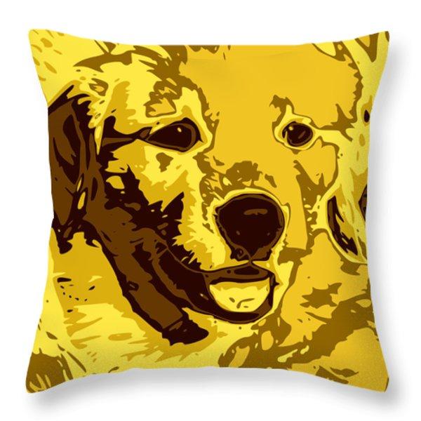 Labrador Throw Pillow by Chris Butler