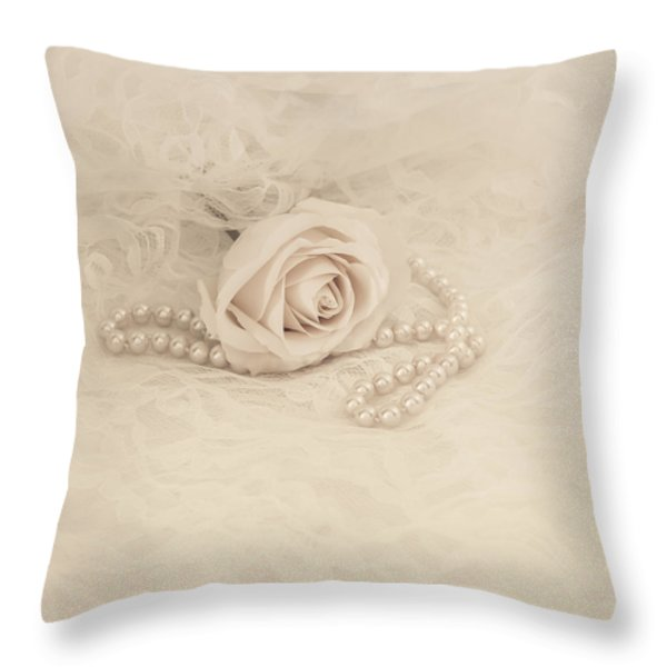 Lace and Promises Throw Pillow by Kim Hojnacki