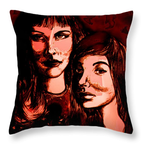 Ladies Night Throw Pillow by Natalie Holland