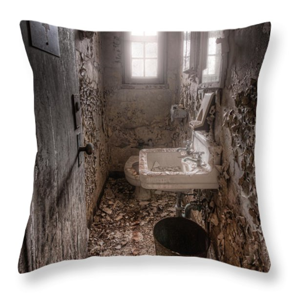 Ladies Room Throw Pillow by Gary Heller
