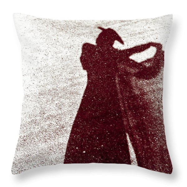 Lady In Red Throw Pillow by Caitlyn  Grasso