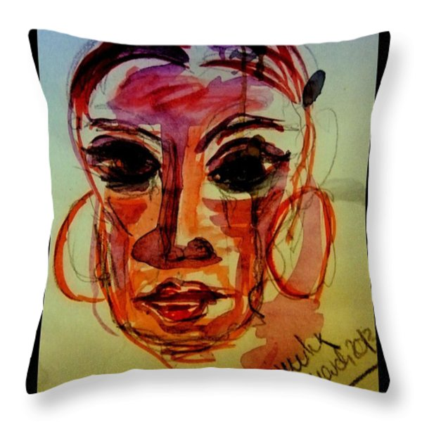 Lady In Red - Silent Tears Throw Pillow by Mimulux patricia no