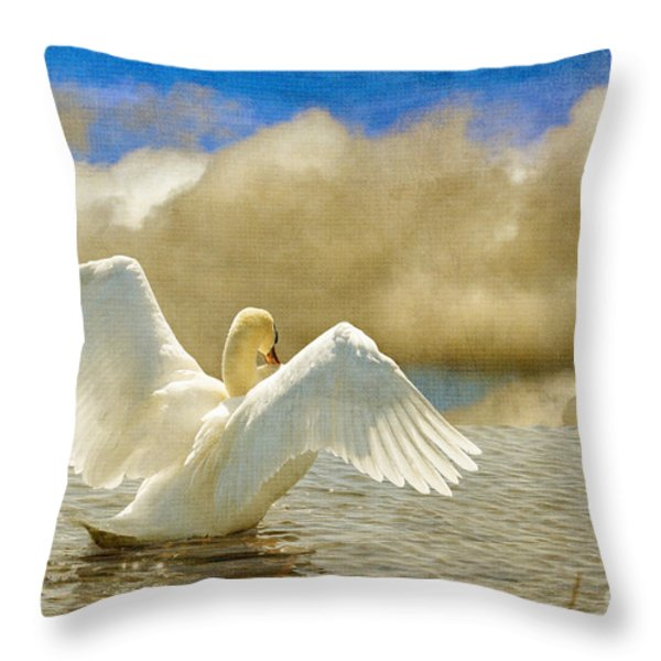 Lady-In-Waiting Throw Pillow by Lois Bryan