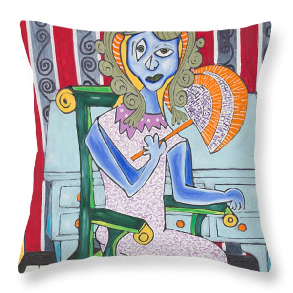 Lady Laura Throw Pillow by Daniel Burtea