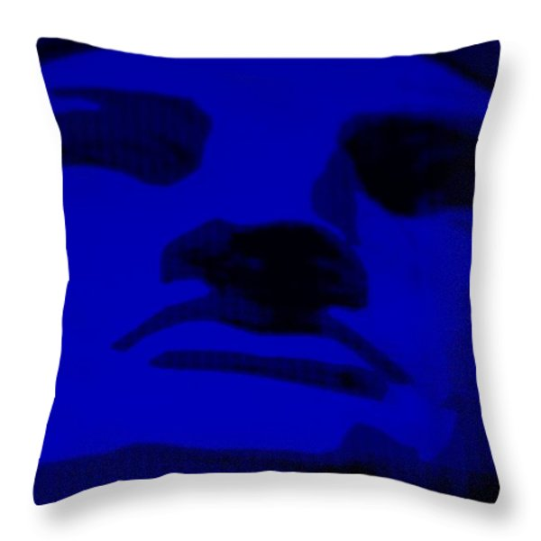 LADY LIBERTY in BLUE Throw Pillow by ROB HANS