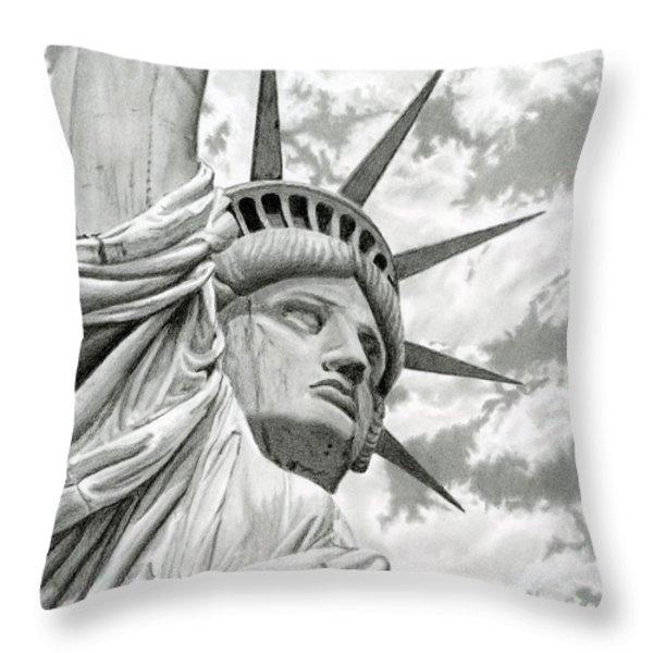 Lady Liberty  Throw Pillow by Sarah Batalka