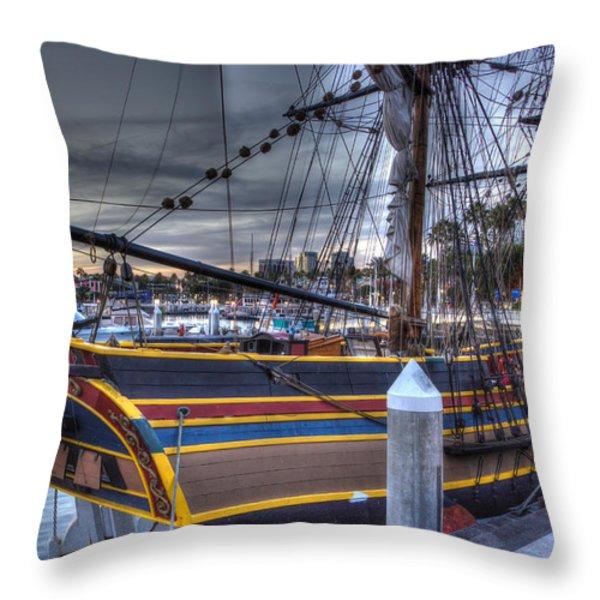 Lady Washington Throw Pillow by Heidi Smith
