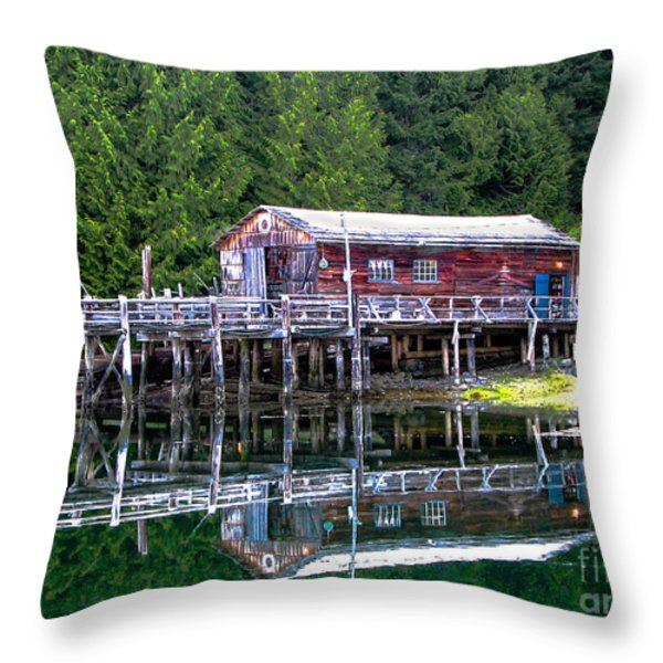 Lagoon Cove Throw Pillow by Robert Bales