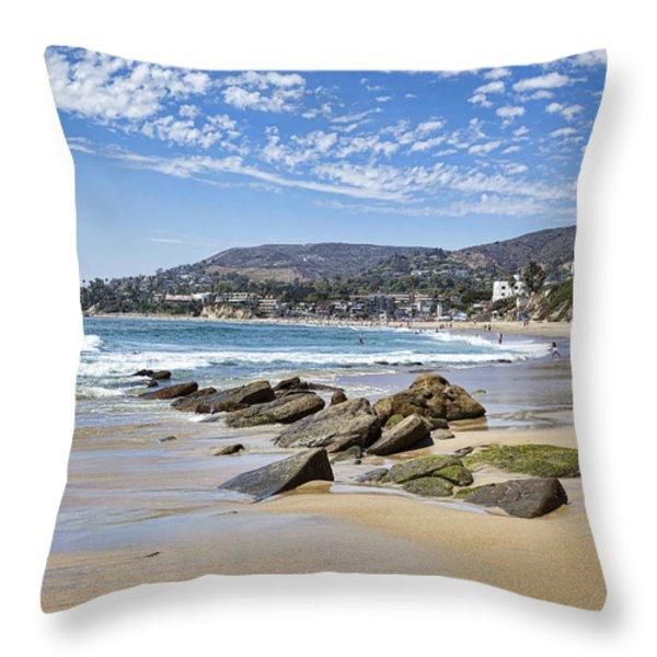 Laguna Beach Throw Pillow by Kelley King