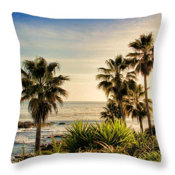 Laguna Beach Throw Pillow by Mariola Bitner