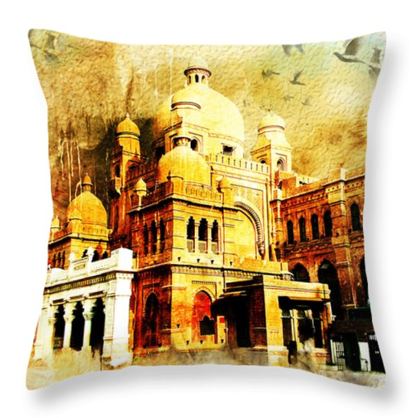 Lahore Museum Throw Pillow by Catf