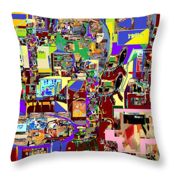 Lail Haseder 4 Bais Throw Pillow by David Baruch Wolk