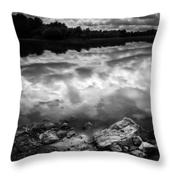 Lake Auburn Twilight Throw Pillow by Bob Orsillo