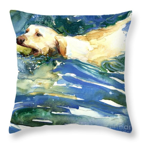 Lake Effect Throw Pillow by Molly Poole
