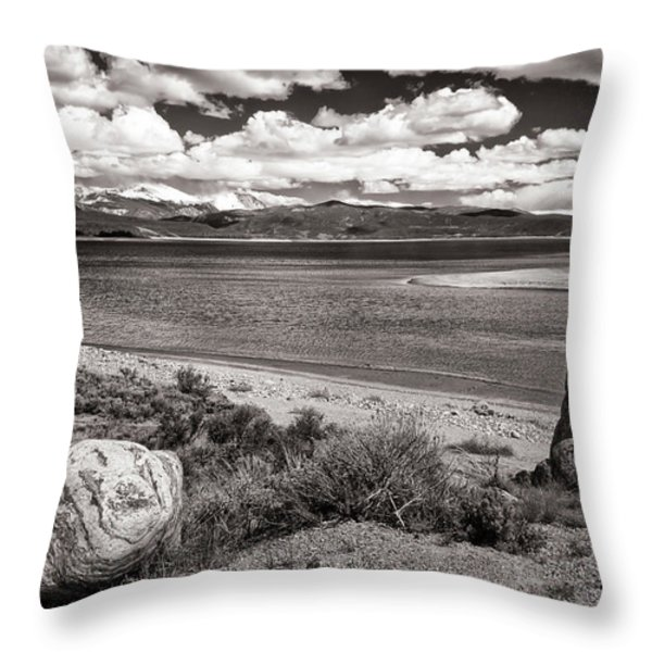 Lake Granby Throw Pillow by Joan Carroll