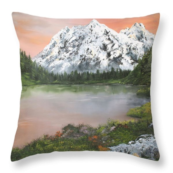 Lake In Austria Throw Pillow by Jean Walker