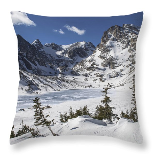 Lake Isabelle Throw Pillow by Aaron Spong