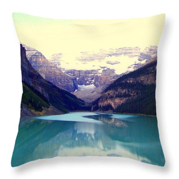 Lake Louise Stillness Throw Pillow by KAREN WILES