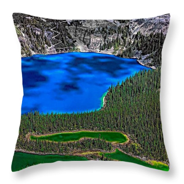 Lake O'hara Throw Pillow by Steve Harrington