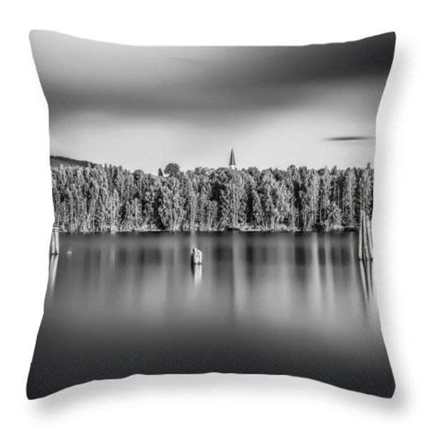 Lake Oyeren Throw Pillow by Erik Brede