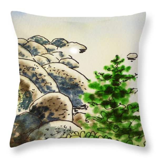 Lake Tahoe - California Sketchbook Project Throw Pillow by Irina Sztukowski