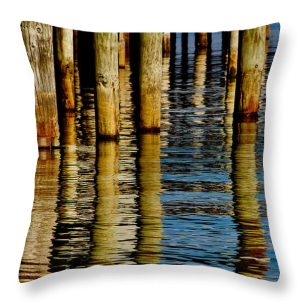 Lake Tahoe Reflection Throw Pillow by Bill Gallagher
