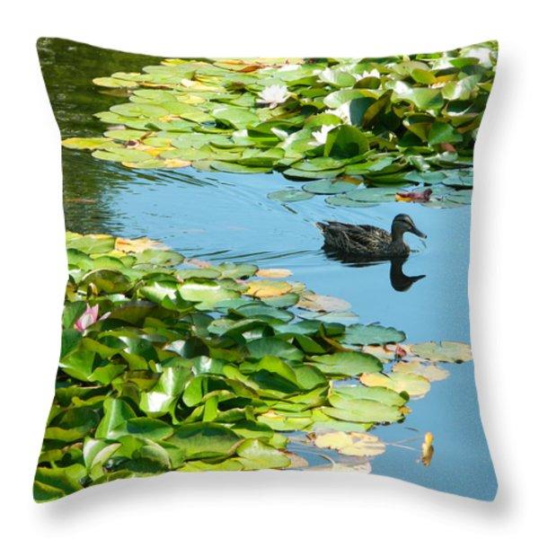 Lake View Throw Pillow by Gunter  Hortz