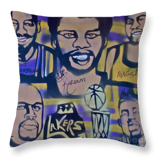 LAKER LOVE Throw Pillow by TONY B CONSCIOUS