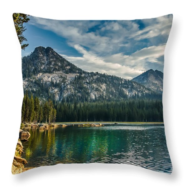 Lakeshore Throw Pillow by Robert Bales