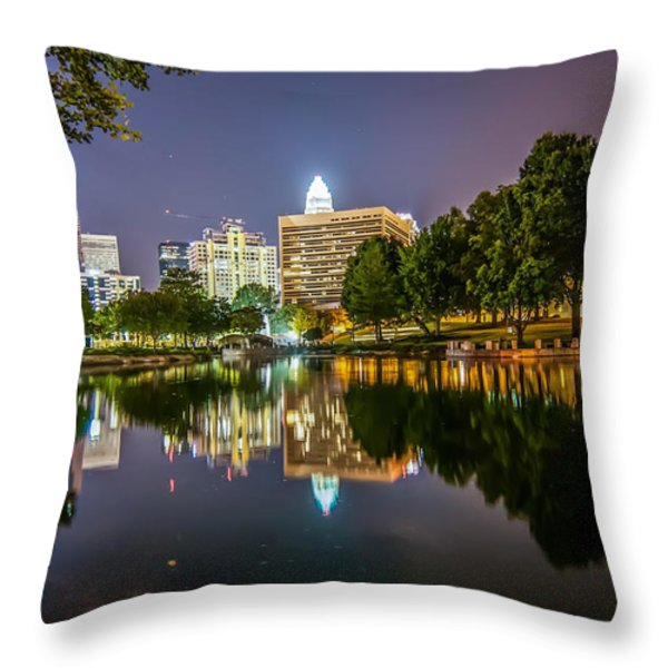 Lakeside in Charlotte Throw Pillow by Mountain Dreams