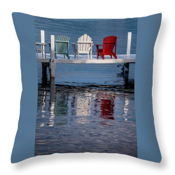 Lakeside Living Number 2 Throw Pillow by Steve Gadomski