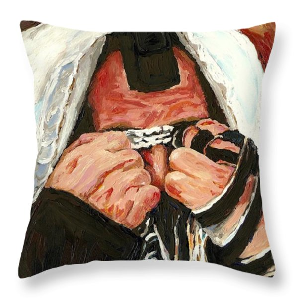 Lamentations Throw Pillow by Carole Spandau