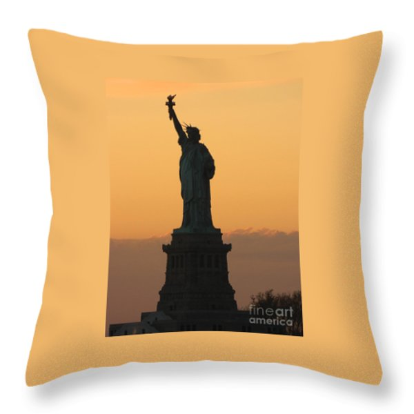Land Of The Free And The Brave Throw Pillow by Emmy Marie Vickers