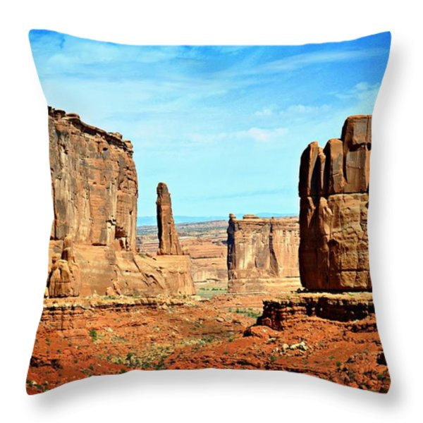 Land Of The Giants Throw Pillow by Marty Koch