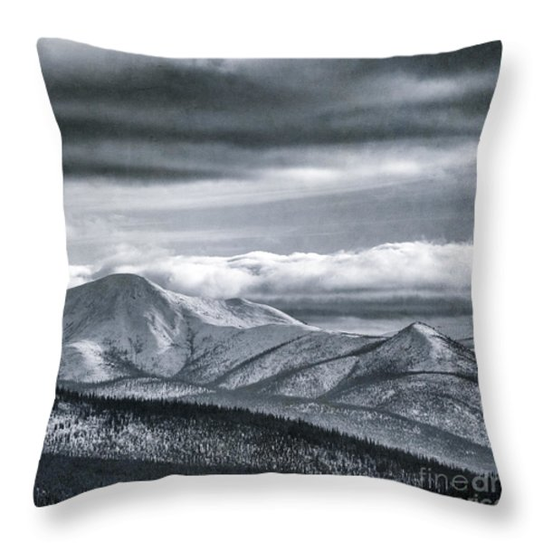Land Shapes 4 Throw Pillow by Priska Wettstein