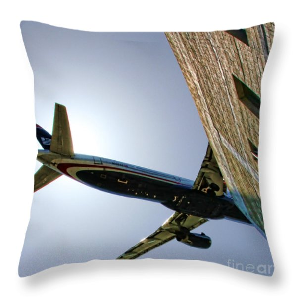 Landing By Diana Sainz Throw Pillow by Diana Sainz