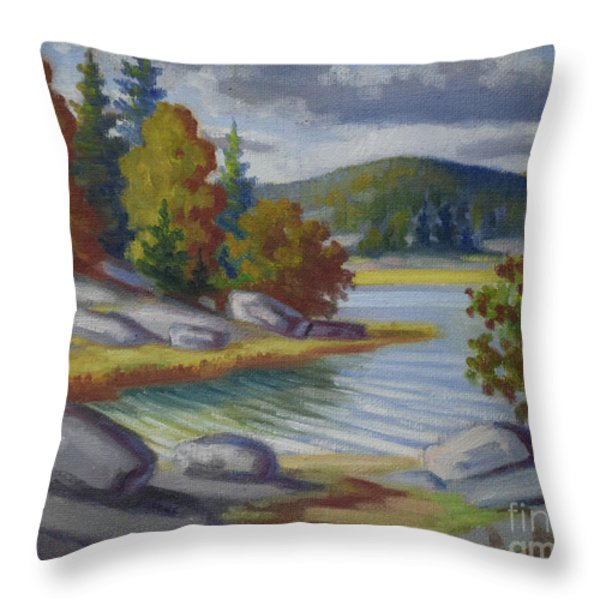 Landscape From Finland Throw Pillow by Kolehmainen