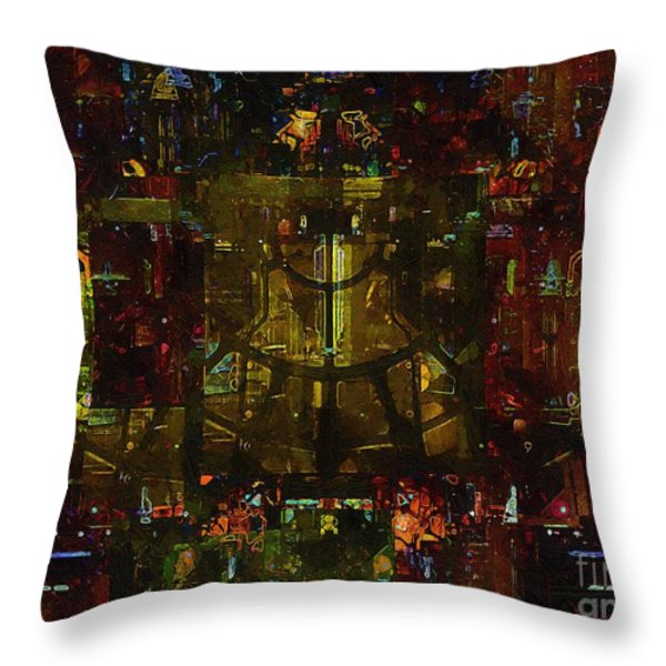 Landscape Of Hell Throw Pillow by RC DeWinter