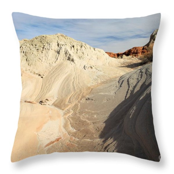 Landscape Swirls Throw Pillow by Adam Jewell
