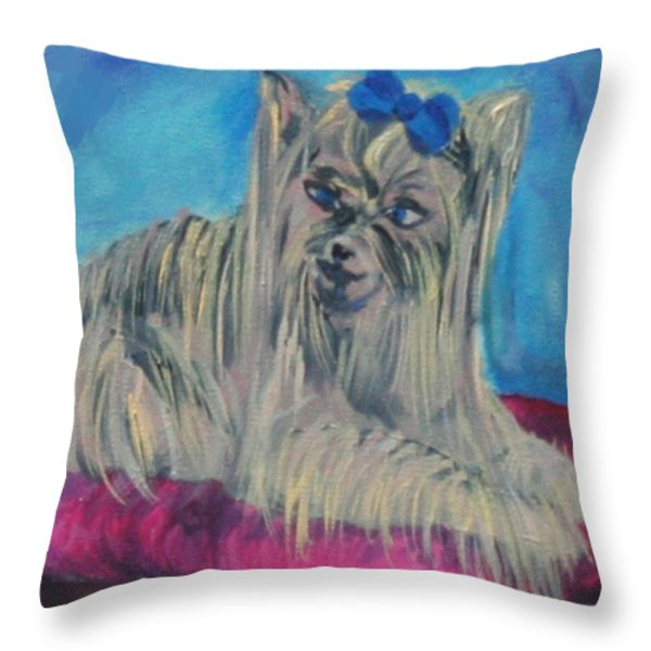 Lap Of Luxury Throw Pillow by Gail Daley