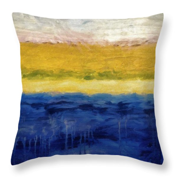 Lapis And Gold Get Married Throw Pillow by Michelle Calkins