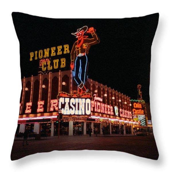 Las Vegas 1983 Throw Pillow by Frank Romeo