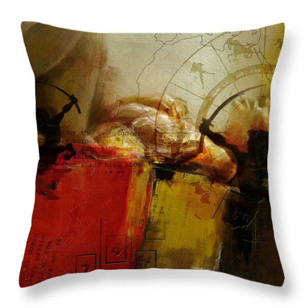 Las Vegas Skyline Collage Throw Pillow by Corporate Art Task Force