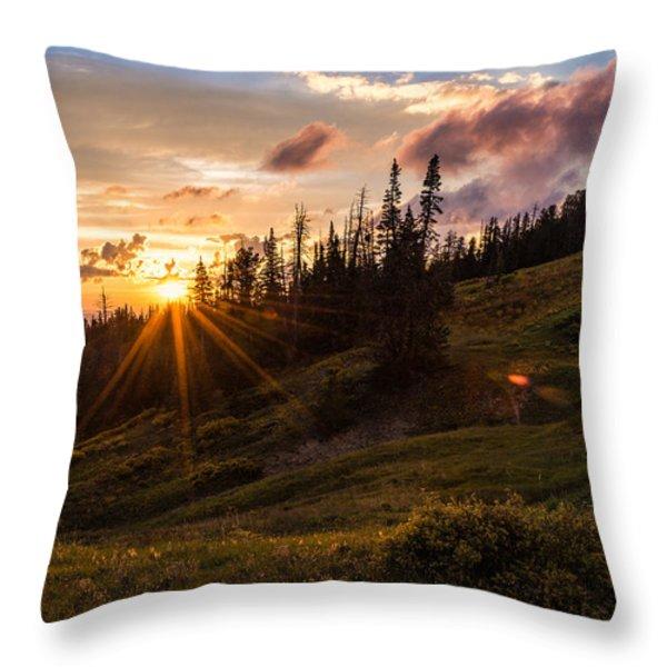 Last Light at Cedar Throw Pillow by Chad Dutson