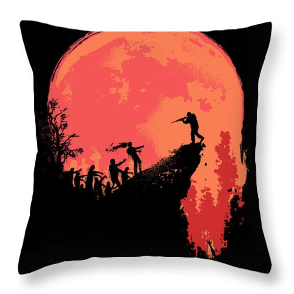Last Stand Throw Pillow by Budi Kwan