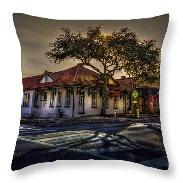 Last Stop Tarpon Springs Throw Pillow by Marvin Spates