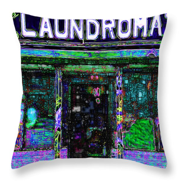 Laundromat 20130731m108 Throw Pillow by Wingsdomain Art and Photography