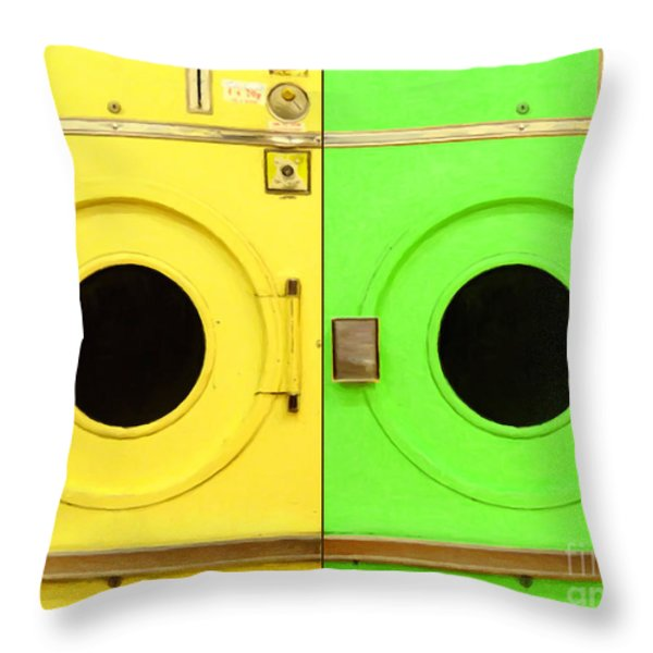 Laundromat Drying Machines Two 20130801a Throw Pillow by Wingsdomain Art and Photography