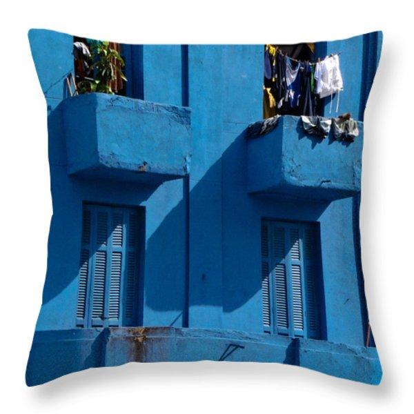 Laundry - Sao Paulo Throw Pillow by Julie Niemela