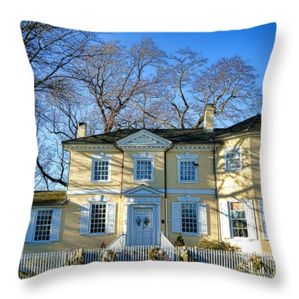 Laurel Hill Mansion Throw Pillow by Olivier Le Queinec